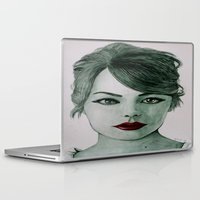 emma stone Laptop & iPad Skins featuring Emma Stone  by Arch & Aya
