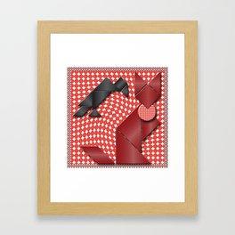 Crow&Fox Tangram Framed Art Print