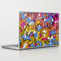 doctor Laptop & iPad Skins featuring Doctor Edge by Mister Phil