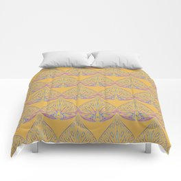 Art Deco Yellow Comforters