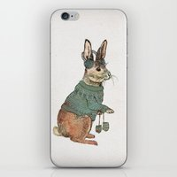 rabbit iPhone & iPod Skins featuring Rabbit by David Fleck