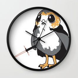 Porg Ren Wall Clock
