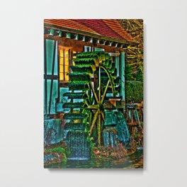 Das Wasserrad am Blautopf Metal Print