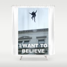 I Want to Believe in Sherlock Holmes Shower Curtain