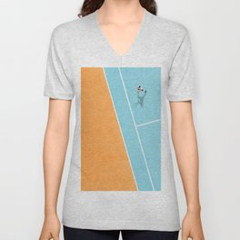 Tennis Court Colors  Unisex V-Neck