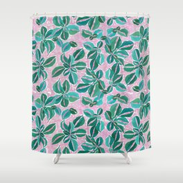 Pink Plantana Shower Curtain