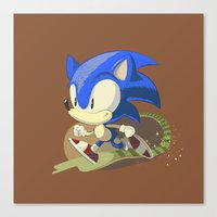 sonic youth Canvas Prints featuring Sonic by Rod Perich
