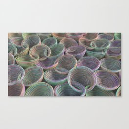 Colorful spiraled coils Canvas Print