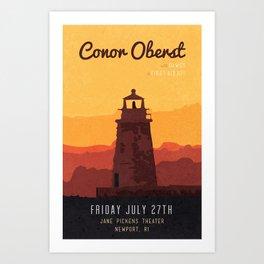 Conor Oberst, Dawes, and First Aid Kit @ Jane Pickens Theater, Newport, RI. Art Print