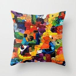 Color Brick Road Throw Pillow