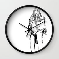 baroque Wall Clocks featuring Baroque by Marga F Donaire