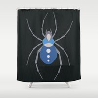 spider Shower Curtains featuring Spider by Jessee Maloney - Art School Dropout