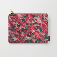Abstract Red Carry-All Pouch