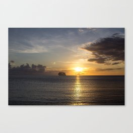 Sailing off into the Sun Canvas Print