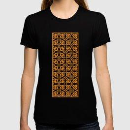 Ethnic tile pattern orange T-shirt