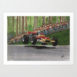 Graham Hill Art Print