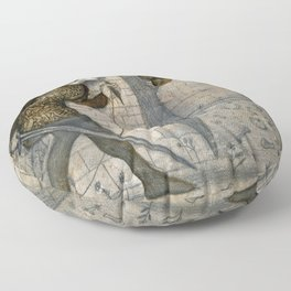 "Edward Burne-Jones ""Theseus and the Minotaur in the Labyrinth"" Floor Pillow"