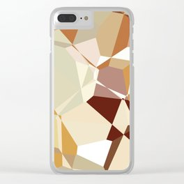 Simple Polygons Clear iPhone Case