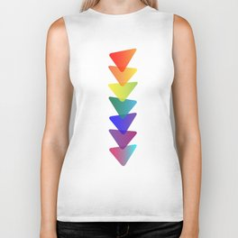 Geo-Stacked Rainbow Biker Tank