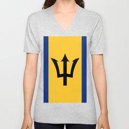 Barbados Flag Unisex V-Neck