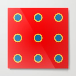 Dotted in Red Metal Print