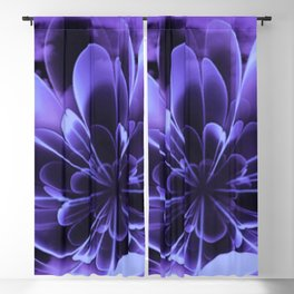Abstract Blue Flower Blackout Curtain