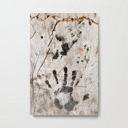 Grunge Wall Imprints Metal Print