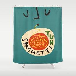 Yum Spaghetti Shower Curtain