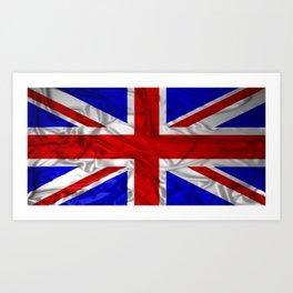 Wrinkled Union Jack Flag Art Print