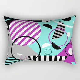 Bits And Bobs - Abstract, geometric design Rectangular Pillow