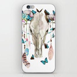 Butterfly Cow Skull Spirit Gazer iPhone Skin