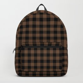 Classic Brown Coffee Country Cottage Summer Buffalo Plaid Backpack