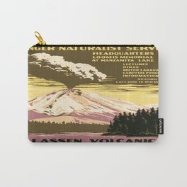 Vintage poster - Lassen Volcanic National Park Carry-All Pouch