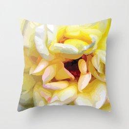 Close up of a Rose Throw Pillow