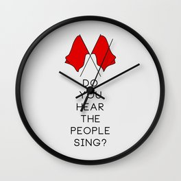 Do You Hear The People Sing (2 flags) Wall Clock