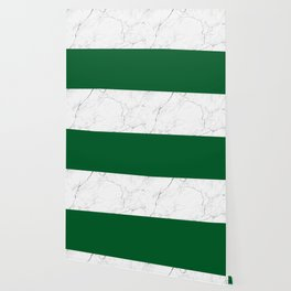 emerald green and white marble Wallpaper