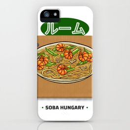 Soba Hungry Shirt - Funny Japanese Asian Food T Shirt Slim Fit T-Shirt iPhone Case