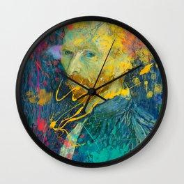 Van Gogh Street Art Dripping Remix Wall Clock