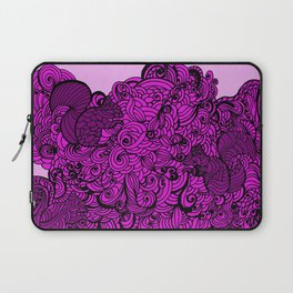 Squirrels Zentangle Drawing Pink Laptop Sleeve