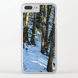 Spencer Butte Trail in Winter Clear iPhone Case