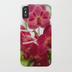 Pink Orchids iPhone X Slim Case