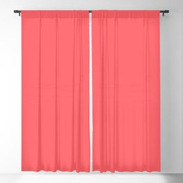 Solid Coral Colour Blackout Curtain