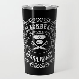 Blackbeard's Dark Roast Premium Pirate Coffee Travel Mug