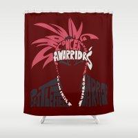 bleach Shower Curtains featuring renji abarai bleach by Rebecca McGoran