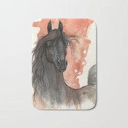 Black horse Bath Mat