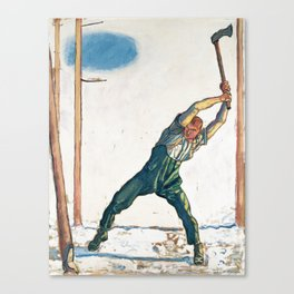 The Woodcutter by Ferdinand Hodler Canvas Print