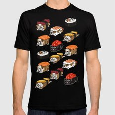 Sushi English Bulldog Mens Fitted Tee Black X-LARGE
