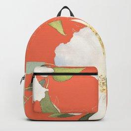 vintage flowers coral Backpack