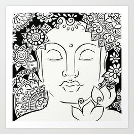 Mandala Buddha Art Print