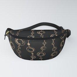 Enso Circle - Zen pattern gold on black Fanny Pack